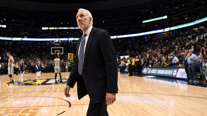 DENVER, CO – APRIL 23: Gregg Popovich of the San Antonio Spurs walks off the court at the end of the fourth quarter of the Denver Nuggets' 108-90 win (Photo by AAron Ontiveroz/MediaNews Group/The Denver Post via Getty Images)