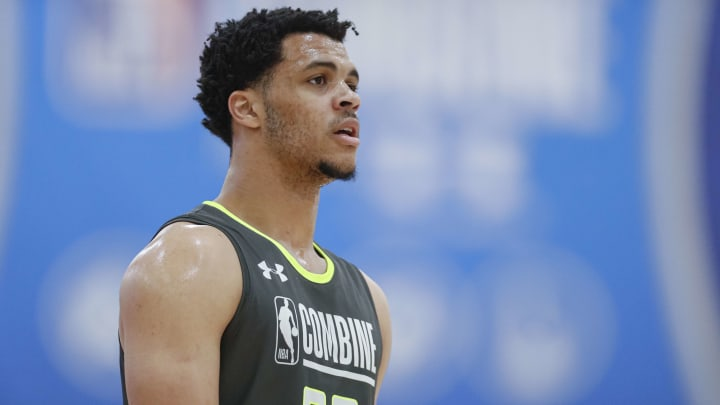 CHICAGO, IL – MAY 17: New San Antonio Spurs guard Quinndary Weatherspoon works out during the 2019 NBA Combine at Quest MultiSport Complex on May 17, 2019 in Chicago, Illinois. (Photo by Michael Hickey/Getty Images)