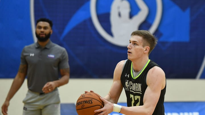 CHICAGO, ILLINOIS – MAY 16:San Antonio Spurs forward Luka Samanic #72 participates in workouts during Day One of the NBA Draft Combine at Quest MultiSport Complex on May 16, 2019 in Chicago, Illinois. (Photo by Stacy Revere/Getty Images)