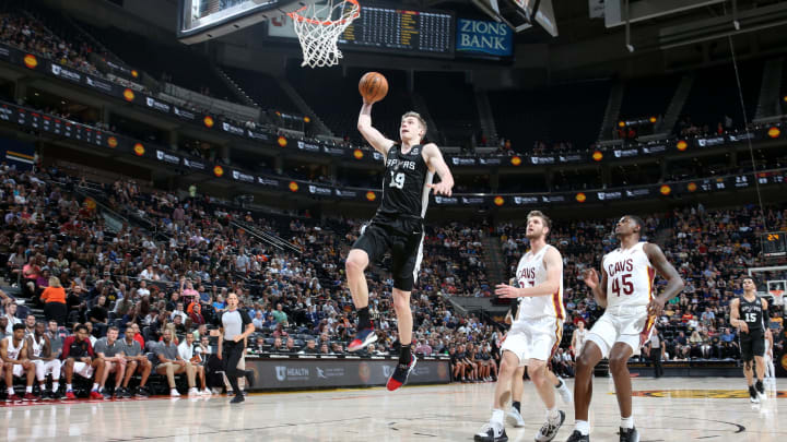 SALT LAKE CITY, UT – JULY 1: Luka Samanic #19 of the San Antonio Spurs goes to the basket against the Cleveland Cavaliers (Photo by Melissa Majchrzak/NBAE via Getty Images)