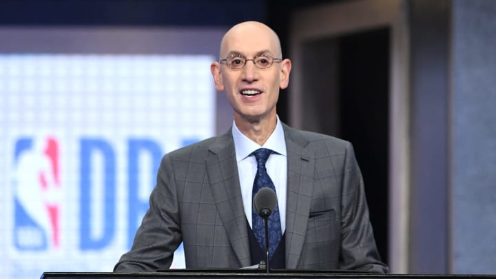 NEW YORK, NEW YORK – JUNE 20: NBA Commissioner Adam Silver speaks during the 2019 NBA Draft at the Barclays Center on June 20, 2019 in the Brooklyn borough of New York City. (Photo by Sarah Stier/Getty Images)