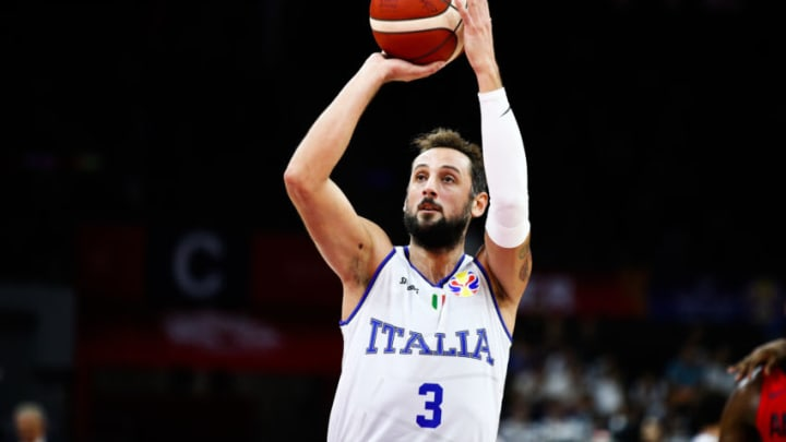 FOSHAN, CHINA - SEPTEMBER 02: Marco Belinelli #3 of Italy shoots the ball during FIBA World Cup 2019 Group D match between Italy and Angola at Foshan International Sports and Cultural Center on September 2, 2019 in Foshan, Guangdong Province of China. (Photo by VCG/VCG via Getty Images)