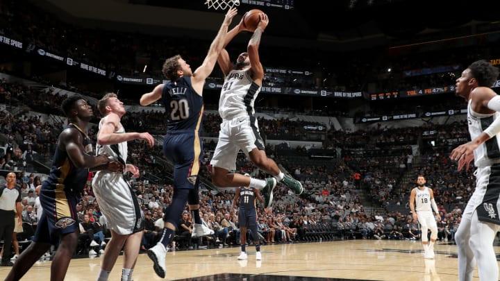 Trey Lyles of the San Antonio Spurs shoots the ball. (Photos by Joe Murphy/NBAE via Getty Images)