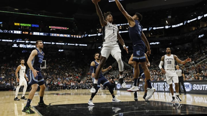 Lonnie Walker IV of the San Antonio Spurs. (Photo by Edward A. Ornelas/Getty Images)