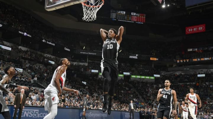 DeMar DeRozan of the San Antonio Spurs. (Photos by Logan Riely/NBAE via Getty Images)