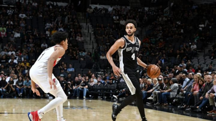 Derrick White of the San Antonio Spurs. (Photos by Logan Riely/NBAE via Getty Images)