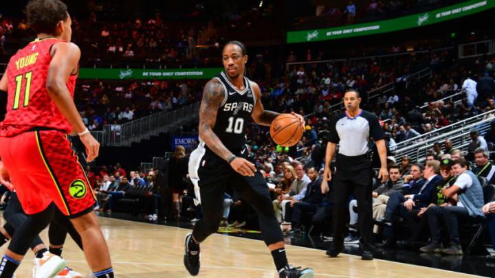 DeMar DeRozan of the San Antonio Spurs. (Photo by Scott Cunningham/NBAE via Getty Images)