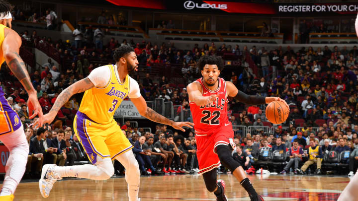 CHICAGO, IL – NOVEMBER 5: Otto Porter Jr. #22 of the Chicago Bulls handles the ball against the Los Angeles Lakers on November 5, 2019 at United Center in Chicago (Photo by Jesse D. Garrabrant/NBAE via Getty Images)