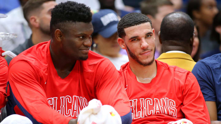 Zion Williamson and Lonzo Ball (Photo by Jonathan Bachman/Getty Images)