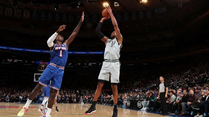 LaMarcus Aldridge of the San Antonio Spurs. (Photo by Nathaniel S. Butler/NBAE via Getty Images)