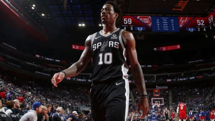 DeMar DeRozan of the San Antonio Spurs. (Photo by Brian Sevald/NBAE via Getty Images)