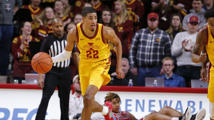 AMES, IA – NOVEMBER 12: Tyrese Haliburton #22 of the Iowa State Cyclones drives the ball in the second half of play at Hilton Coliseum on November 12, 2019 in Ames, Iowa. The Iowa State Cyclones won 70-52 over the Northern Illinois Huskies. (Photo by David K Purdy/Getty Images)