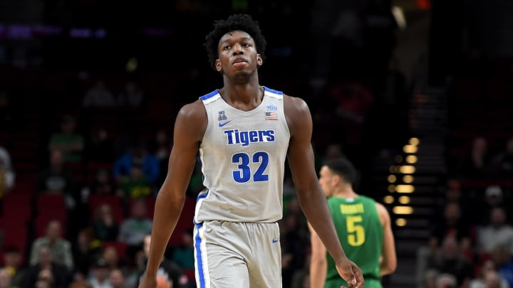 PORTLAND, OREGON – NOVEMBER 12: James Wiseman #32 of the Memphis Tigers walks up court during the first half of the game against the Oregon Ducks between the Oregon Ducks and Memphis Grizzlies at Moda Center on November 12, 2019 in Portland, Oregon. (Photo by Steve Dykes/Getty Images)