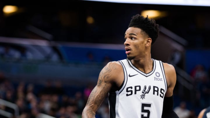 Dejounte Murray of the San Antonio Spurs. (Photo by Harry Aaron/Getty Images) (Photo by Harry Aaron/Getty Images)