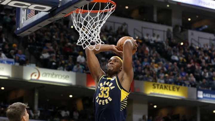 INDIANAPOLIS, INDIANA – NOVEMBER 16: Myles Turner #33 of the Indiana Pacers (Photo by Justin Casterline/Getty Images)