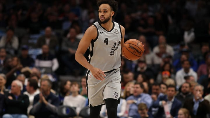 Derrick White of the San Antonio Spurs. (Photo by Ronald Martinez/Getty Images)