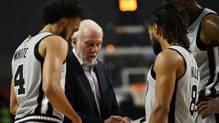 San Antonio Spurs' US head coach Gregg Popovich. (Photo by PEDRO PARDO/AFP via Getty Images)