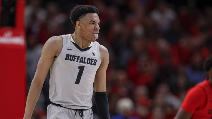 CHICAGO, IL – DECEMBER 21: NBA Draft prospect Tyler Bey #1 of the Colorado Buffaloes is seen during the game against the Dayton Flyers at United Center on December 21, 2019, in Chicago. (Photo by Michael Hickey/Getty Images)
