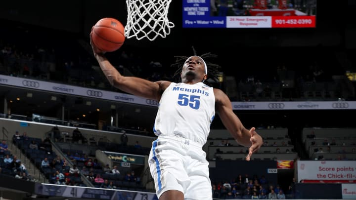 MEMPHIS, TN – DECEMBER 28: NBA Draft prospect Precious Achiuwa #55 of the Memphis Tigers dunks the ball against the New Orleans Privateers during a game on December 28, 2019 at FedExForum in Memphis, Tennessee. Memphis defeated New Orleans 97-55. (Photo by Joe Murphy/Getty Images)