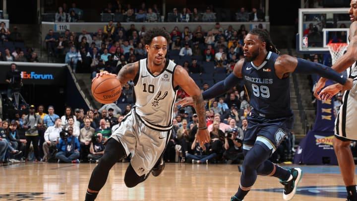 DeMar DeRozan of the San Antonio Spurs. (Photo by Joe Murphy/NBAE via Getty Images)