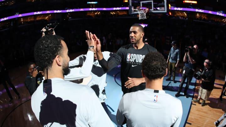 LaMarcus Aldridge of the San Antonio Spurs. (Photo by Joe Murphy/NBAE via Getty Images)