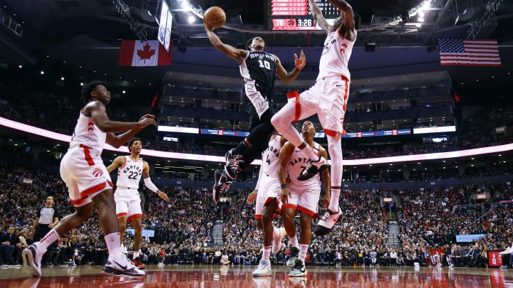 San Antonio Spurs DeMar DeRozan (Photo by Vaughn Ridley/Getty Images)