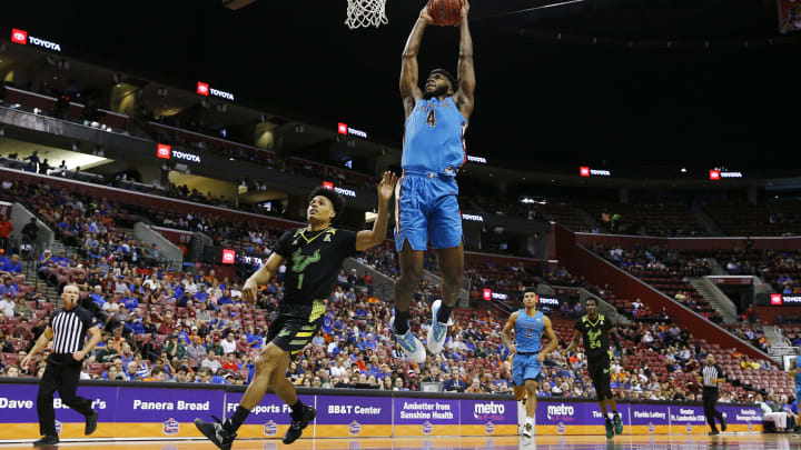 SUNRISE, FLORIDA – DECEMBER 21: NBA Draft prospect Patrick Williams #4 of the Florida State Seminoles dunks vs. the South Florida Bulls in the 2nd half of the Orange Bowl Basketball Classic. (Photo by Michael Reaves/Getty Images)