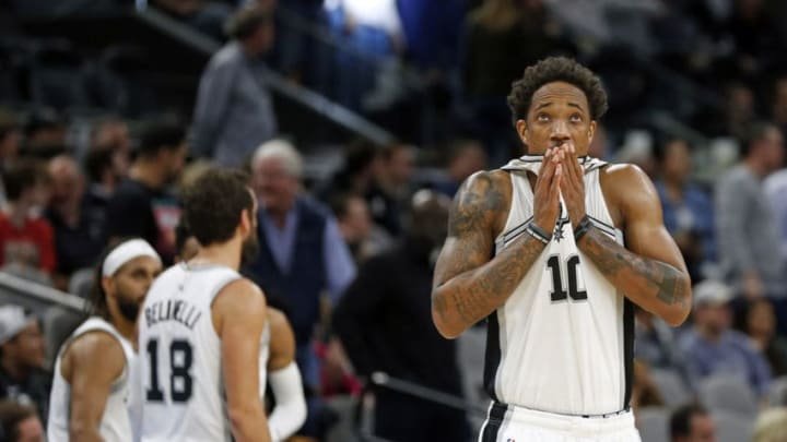 DeMar DeRozan of the San Antonio Spurs. (Photo by Ronald Cortes/Getty Images)