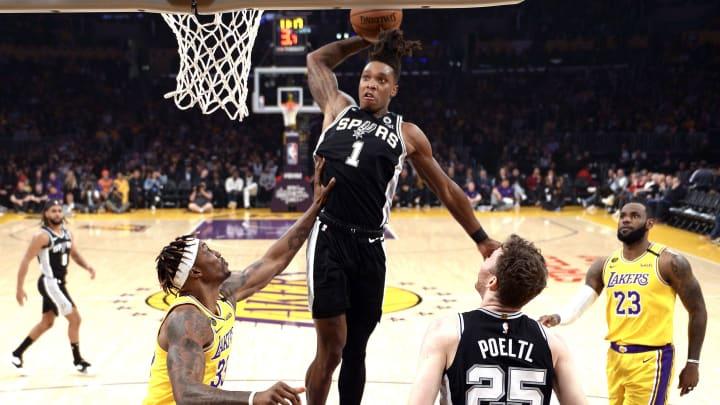 San Antonio Spurs Lonnie Walker (Photo by Kevork Djansezian/Getty Images)