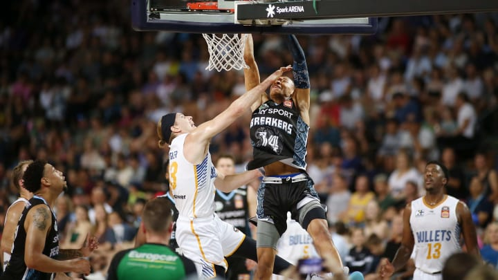 AUCKLAND, NEW ZEALAND – JANUARY 12: RJ Hampton, one of the best guards in the '20 NBA Draft, goes up for a dunk at Spark Arena in Auckland, New Zealand. (Photo by Anthony Au-Yeung/Getty Images)