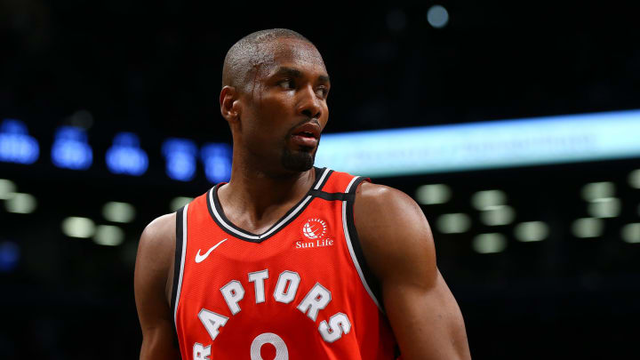 NEW YORK, NEW YORK – FEBRUARY 12: Serge Ibaka #9 of the Toronto Raptors in action against the Brooklyn Nets at Barclays Center on February 12, 2020 in New York City (Photo by Mike Stobe/Getty Images)