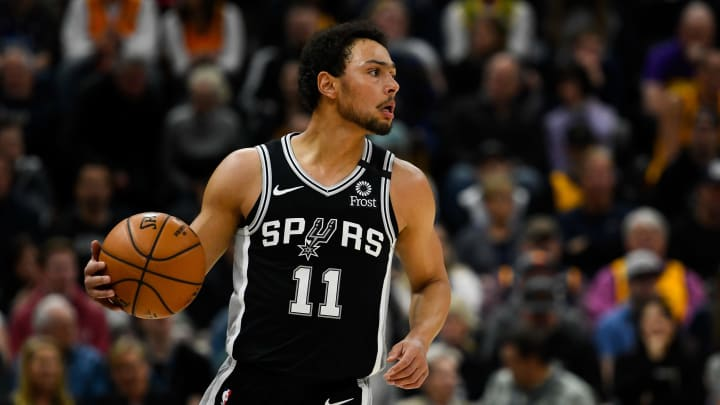 SALT LAKE CITY, UT – FEBRUARY 21: Bryn Forbes #11 of the San Antonio Spurs in action during a game against the Utah Jazz at Vivint Smart Home Arena on February 21, 2020 in Salt Lake City, Utah (Photo by Alex Goodlett/Getty Images)