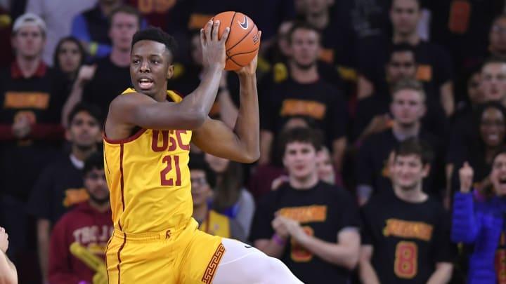 Onyeka Okongwu #21 of the USC Trojans. (Photo by John McCoy/Getty Images)