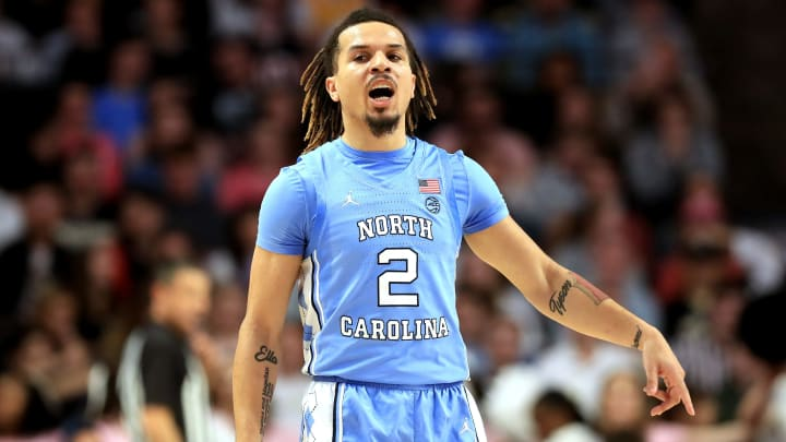 Cole Anthony #2 of the North Carolina Tar Heels. (Photo by Streeter Lecka/Getty Images)
