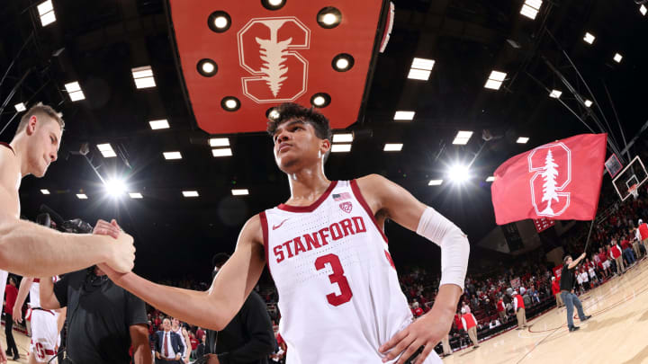 STANFORD, CA – FEBRUARY 01: Tyrell Terry #3 of the Stanford Cardinal, one of the best shooters in the 2020 NBA Draft, celebrates against the University of Oregon at Maples Pavilion. (Photo by Bob Drebin/ISI Photos/Getty Images)