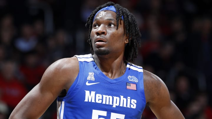CINCINNATI, OH – FEBRUARY 13: NBA Draft prospect Precious Achiuwa #55 of the Memphis Tigers looks on during a game against the Cincinnati Bearcats at Fifth Third Arena (Photo by Joe Robbins/Getty Images)
