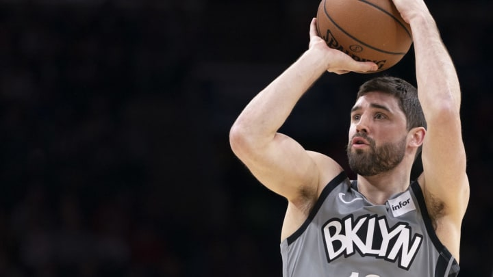 PHILADELPHIA, PA – FEBRUARY 20: Joe Harris #12 of the Brooklyn Nets, a potential offseason target of the San Antonio Spurs, shoots the ball against the Philadelphia 76ers. (Photo by Mitchell Leff/Getty Images)