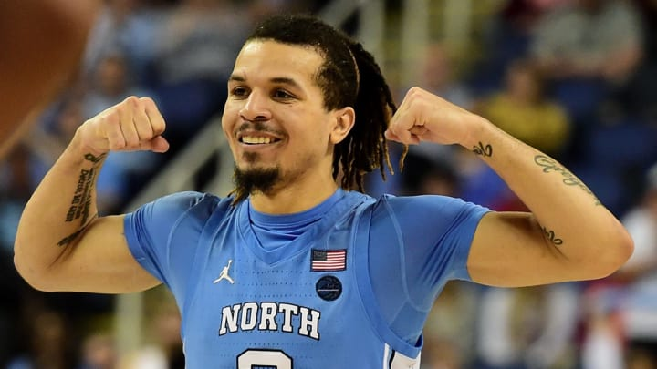 GREENSBORO, NORTH CAROLINA – MARCH 10: Cole Anthony #2 of the North Carolina Tar Heels reacts against Virginia Tech during the first round of the 2020 Men's ACC Basketball Tournament. (Photo by Jared C. Tilton/Getty Images)