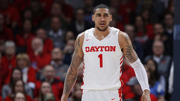 DAYTON, OH – MARCH 07: Obi Toppin #1 of the Dayton Flyers looks on during a game against the George Washington Colonials at UD Arena on March 7, 2020, in Dayton, Ohio. (Photo by Joe Robbins/Getty Images)