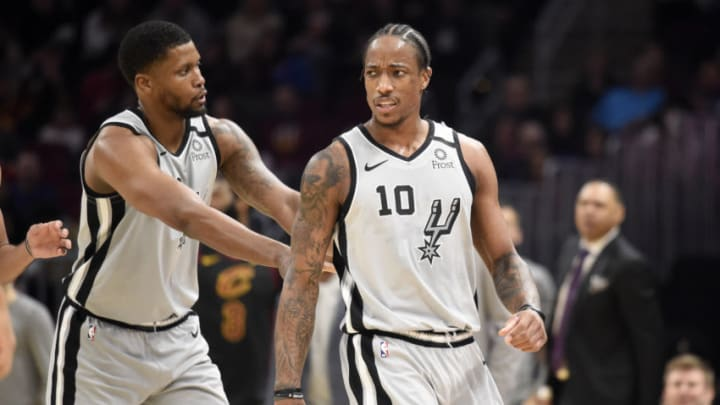 San Antonio Spurs Rudy Gay DeMar DeRozan (Photo by Jason Miller/Getty Images)