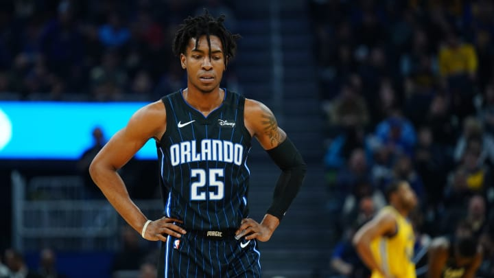 SAN FRANCISCO, CALIFORNIA – JANUARY 18: Wes Iwundu #25 of the Orlando Magic looks on during the first half against the Golden State Warriors at the Chase Center (Photo by Daniel Shirey/Getty Images)