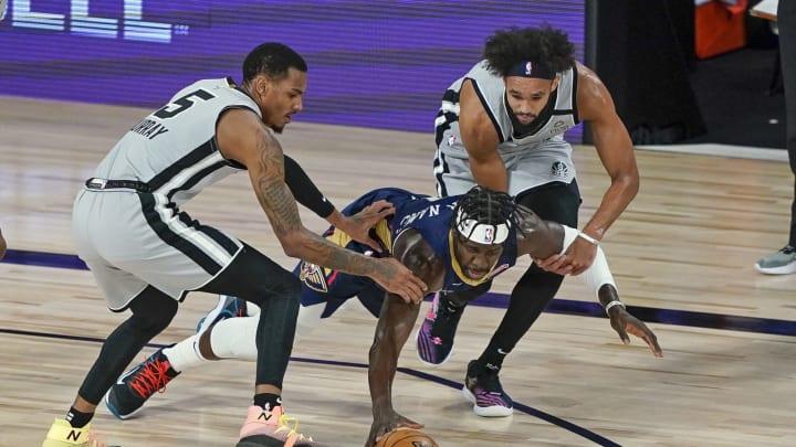 San Antonio Spurs Dejounte Murray Derrick White (Photo by Ashley Landis – Pool/Getty Images)