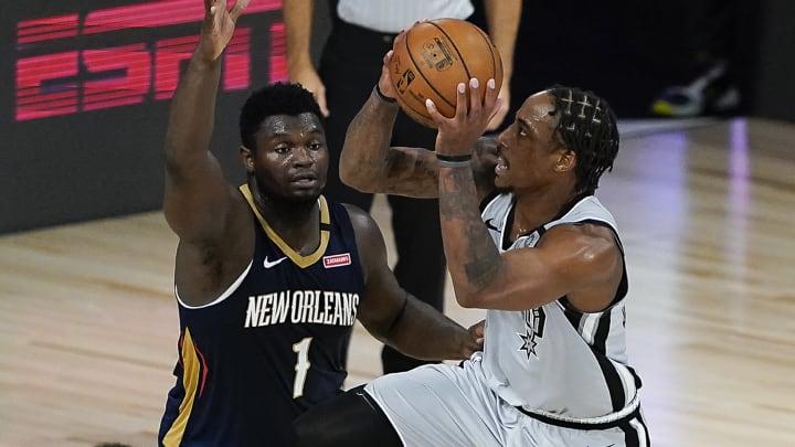 San Antonio Spurs DeMar DeRozan (Photo by Ashley Landis-Pool/Getty Images)