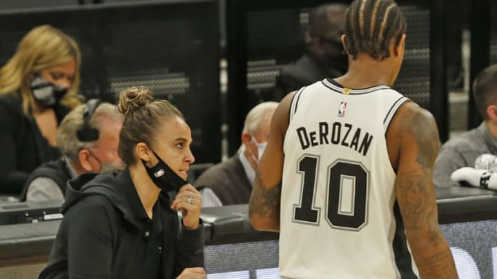 San Antonio Spurs Becky Hammon DeMar DeRozan (Photo by Ronald Cortes/Getty Images)