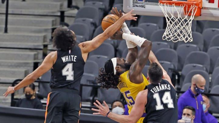 San Antonio Spurs Derrick White Drew Eubanks (Photo by Ronald Cortes/Getty Images)