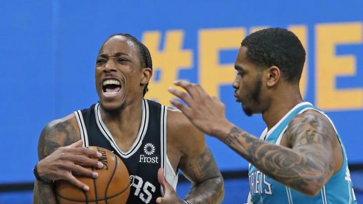 San Antonio Spurs DeMar DeRozan (Photo by Ronald Cortes/Getty Images)