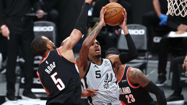 San Antonio Spurs Dejounte Murray (Photo by Abbie Parr/Getty Images)