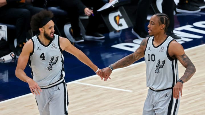 San Antonio Spurs Derrick White DeMar DeRozan (Photo by Dylan Buell/Getty Images)