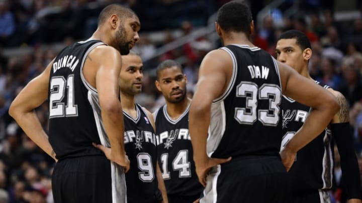 San Antonio Spurs Tim Duncan Boris Diaw (Photo by Harry How/Getty Images)