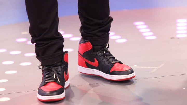 NEW YORK, NY – DECEMBER 02: American rapper and actor Bow Wow rocks the Air Jordan 1s, which is San Antonio Spurs forward Trey Lyles' favorite Jordan shoe (Photo by Bennett Raglin/BET/Getty Images for BET)